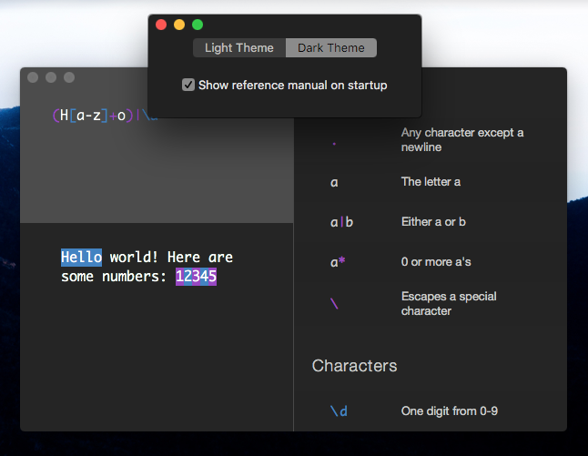 Regxr – test your regular expressions from your Mac's warm embrace
