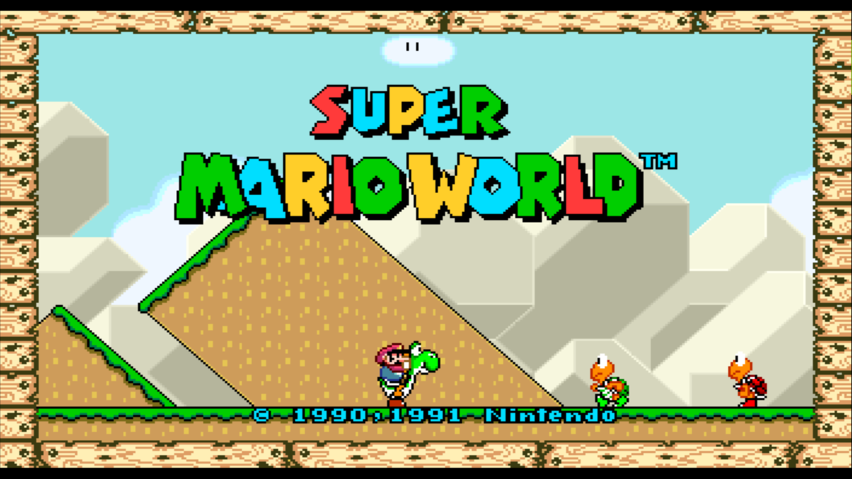 Super Mario World modded to be 16:9