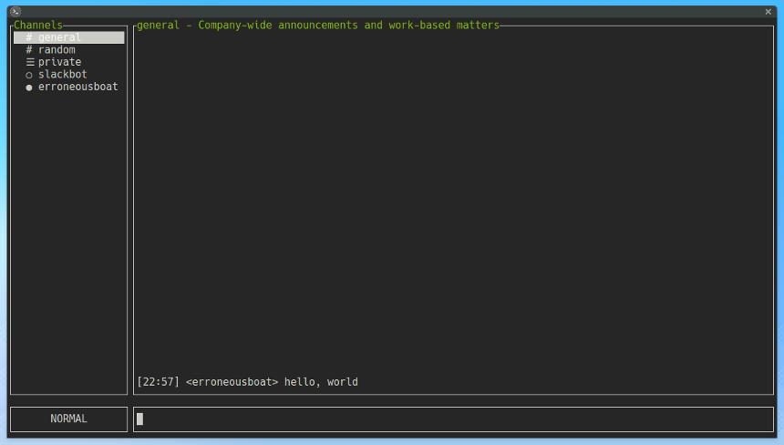 A Slack client for your terminal