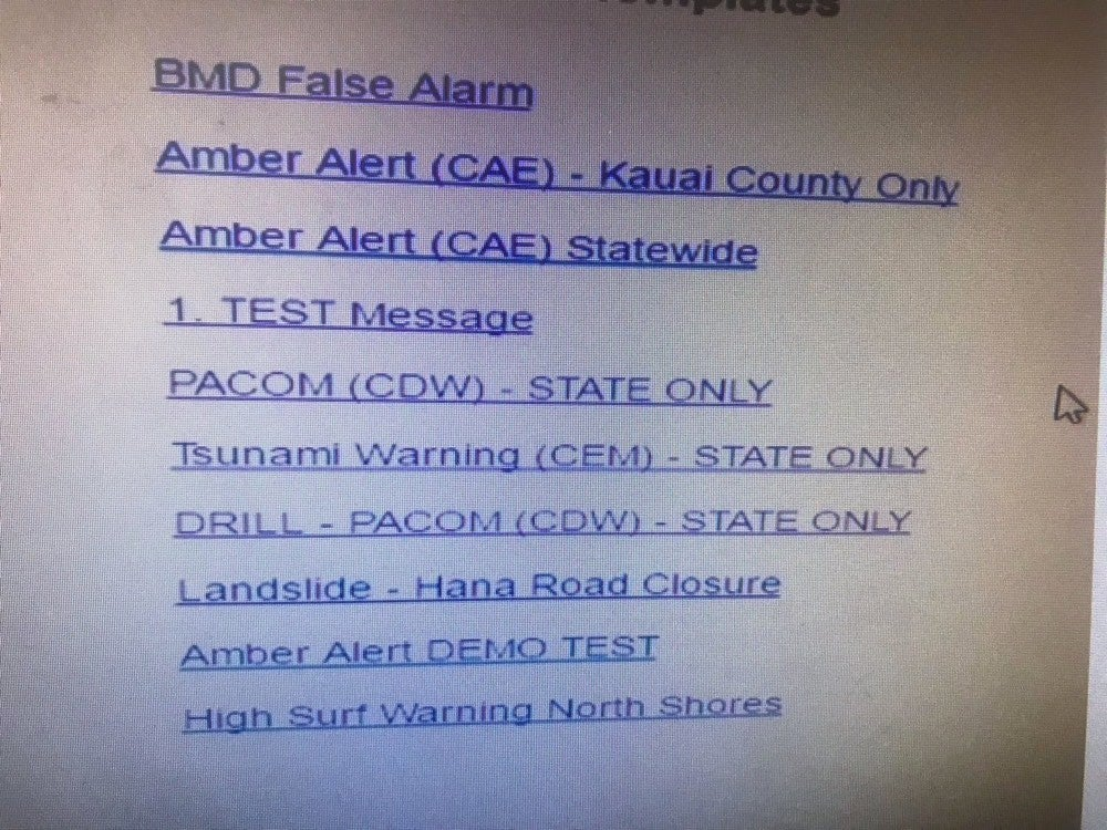 Bad design in action: the false Hawaiian ballistic missile alert