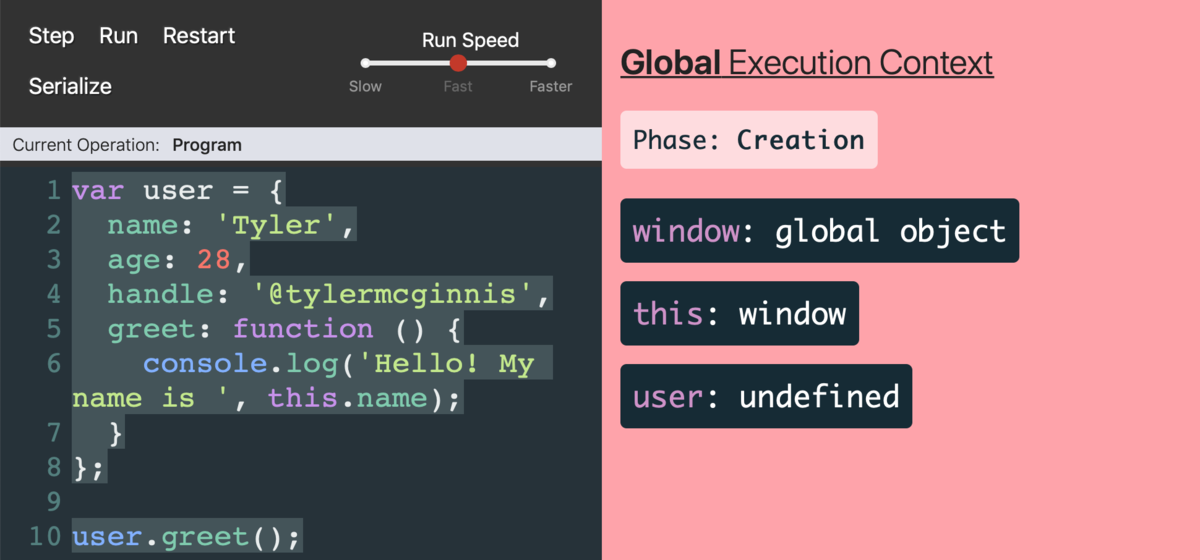 A tool for visualizing execution context, hoisting, closures, and scopes in JavaScript