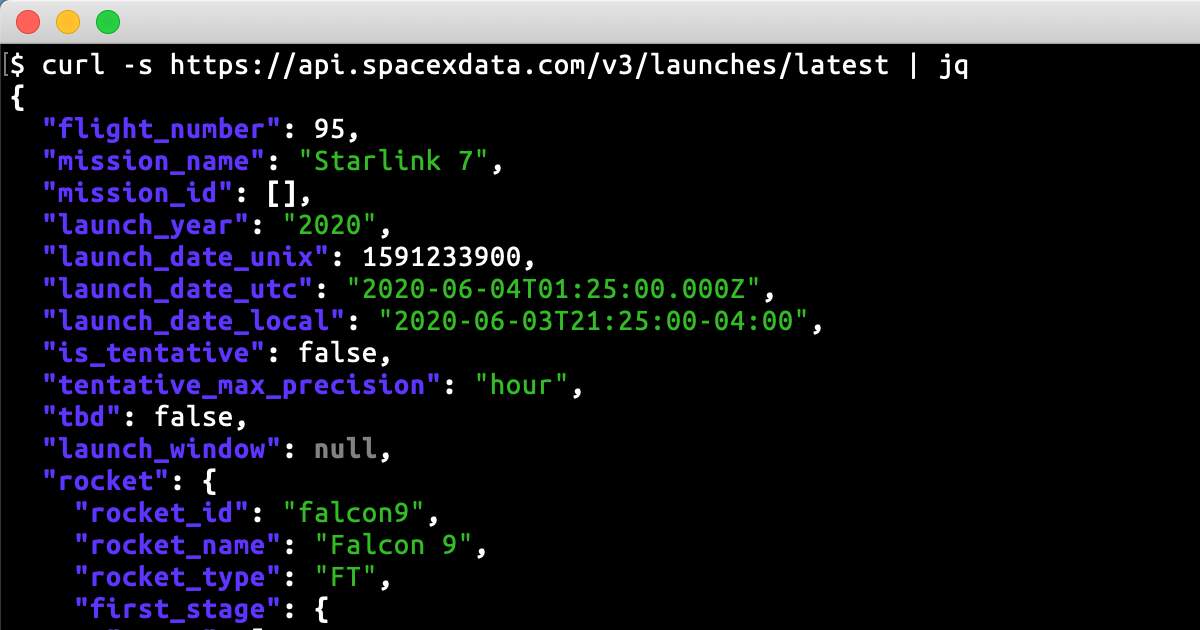 Did you know SpaceX has a REST API?!