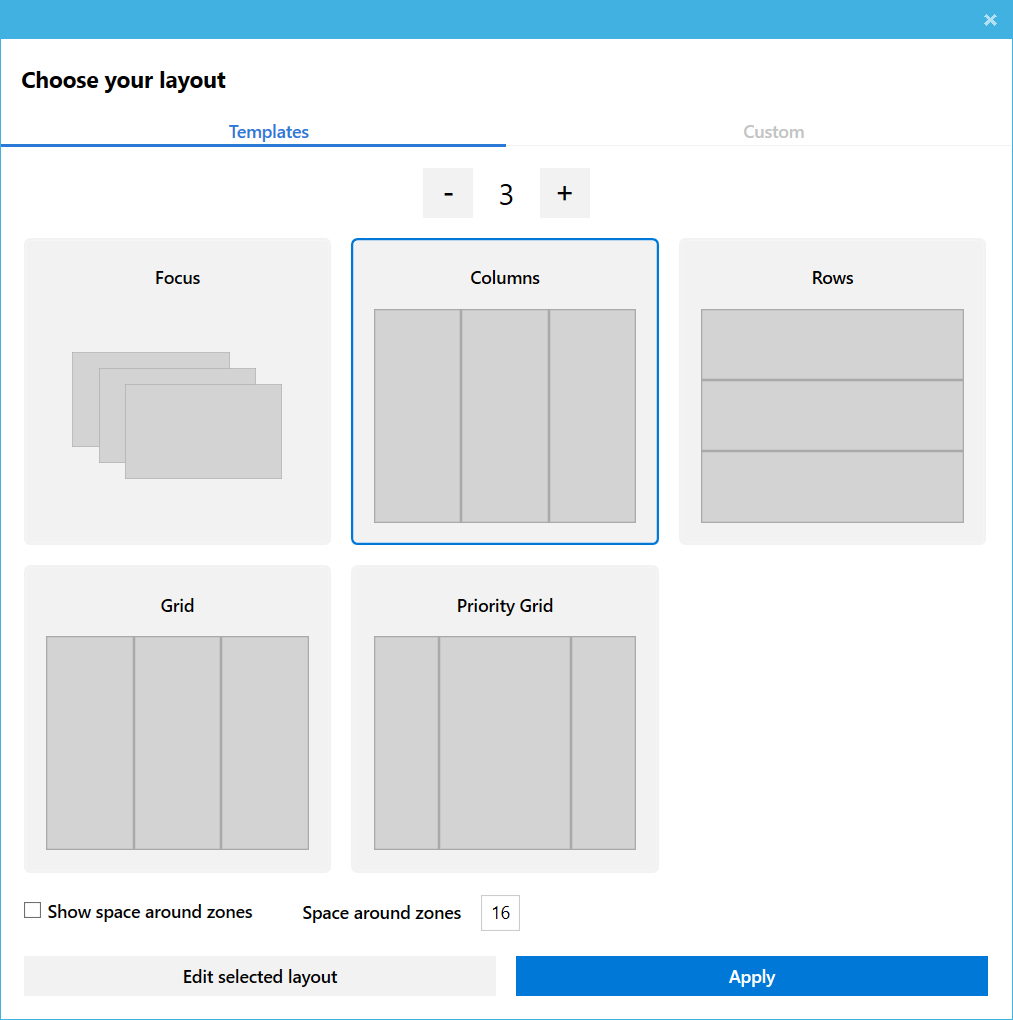 Fancy Zones is an envious tiling window manager for Windows