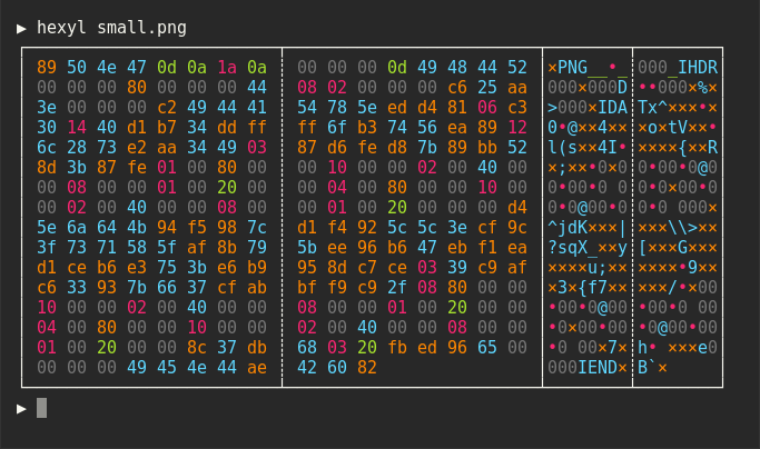 hexyl – a simple hex viewer for the terminal