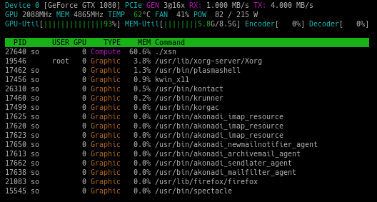NVTOP – an htop like task monitor for NVIDIA GPUs