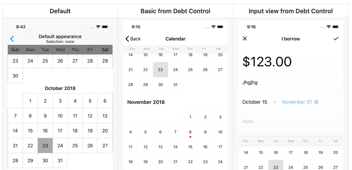 An easy-to-use, fully customizable, beautiful calendar for iOS apps
