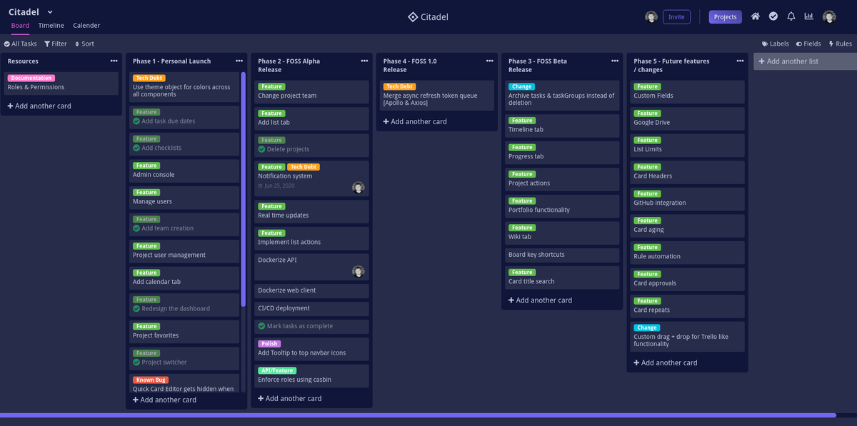 An open source project management tool with Kanban boards