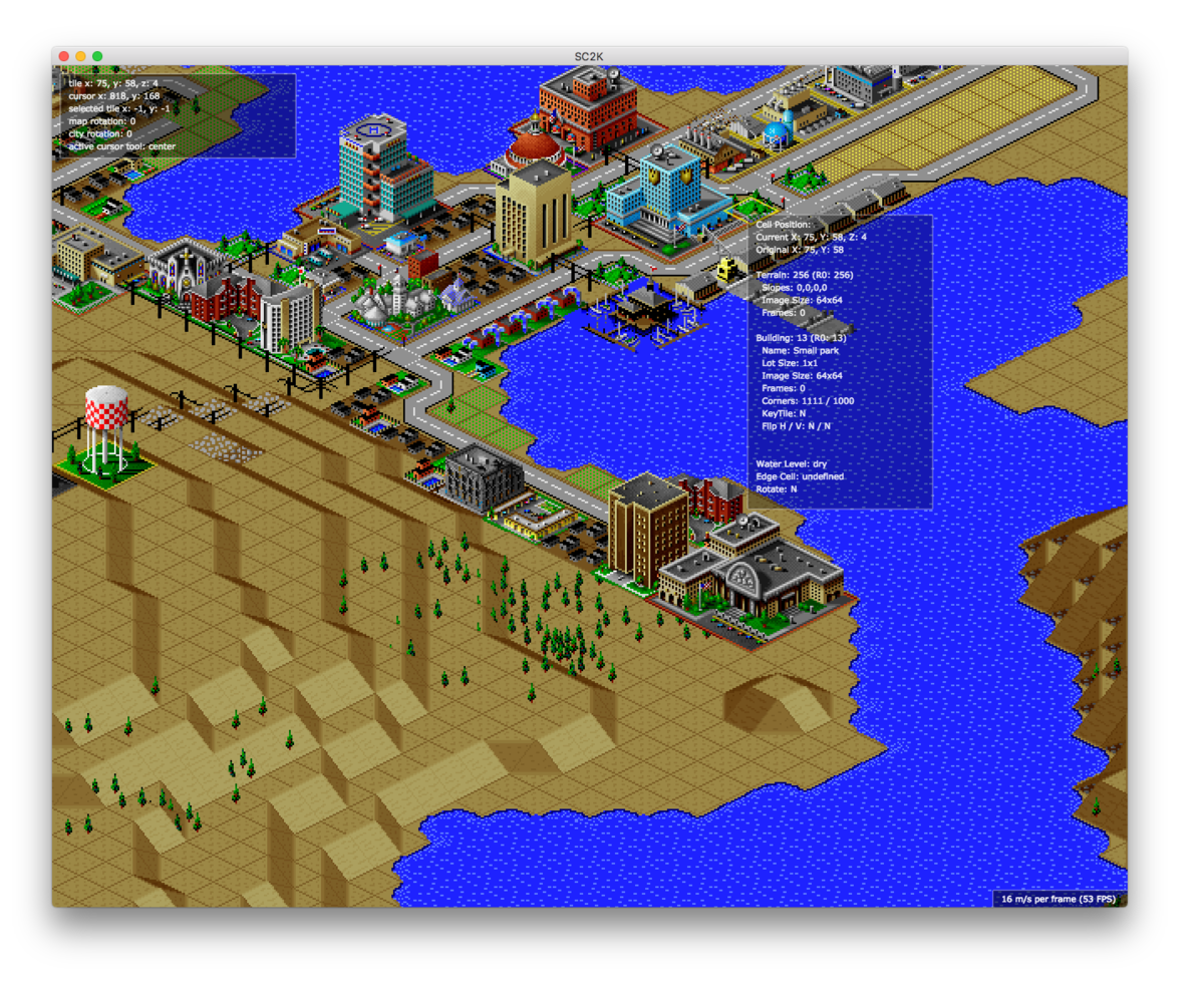 An Open Source remake of SimCity 2000