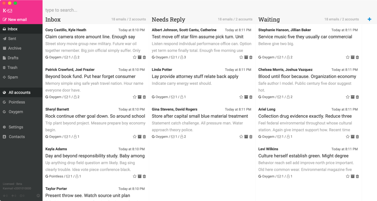 📥 An email client that functions like a kanban board