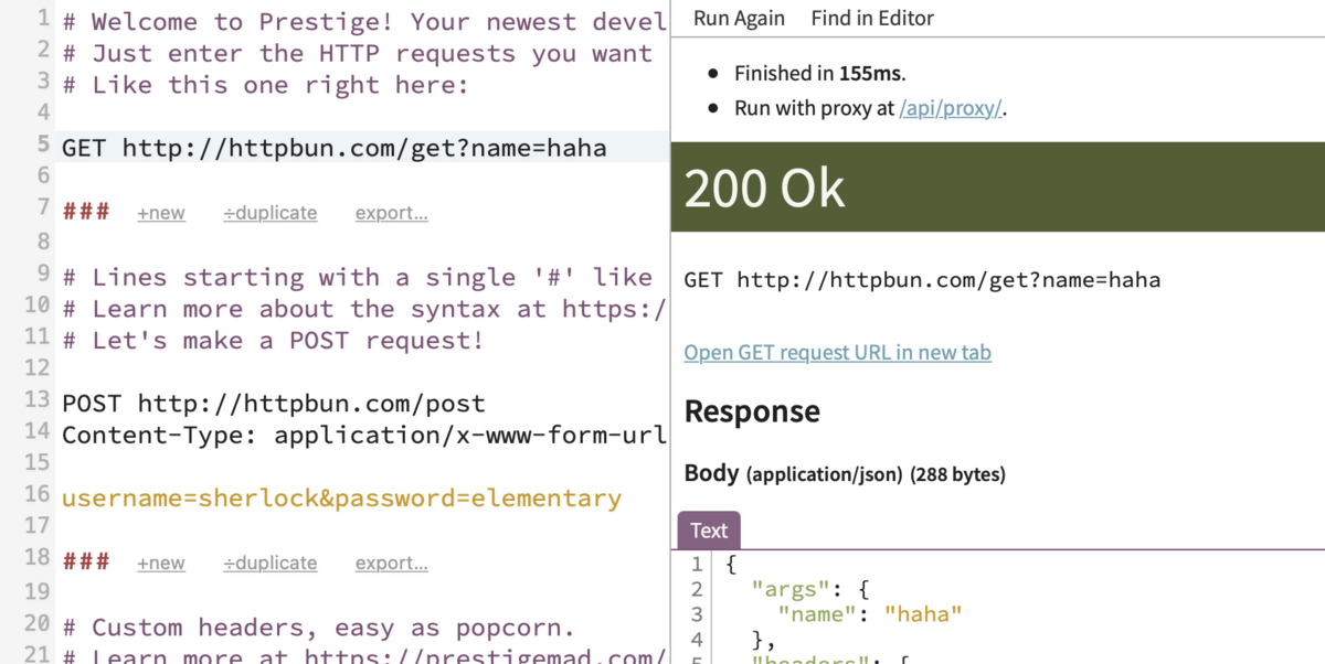 A text-based HTTP client in your browser