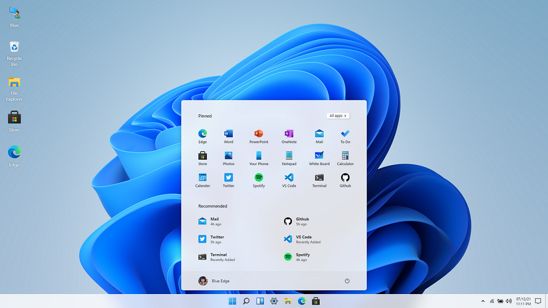 Windows 11 in React