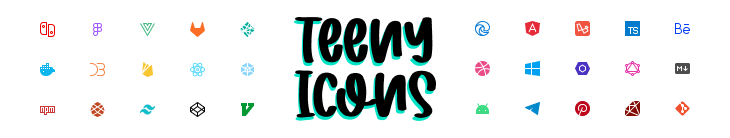 Teenyicons easily fit in very small spaces 🤏 and maintain a crisp look ✨
