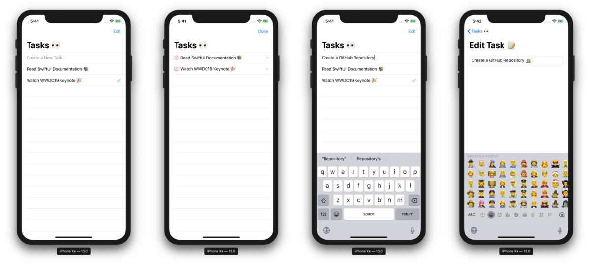 An example to-do list app using SwiftUI (introduced at WWDC 2019)