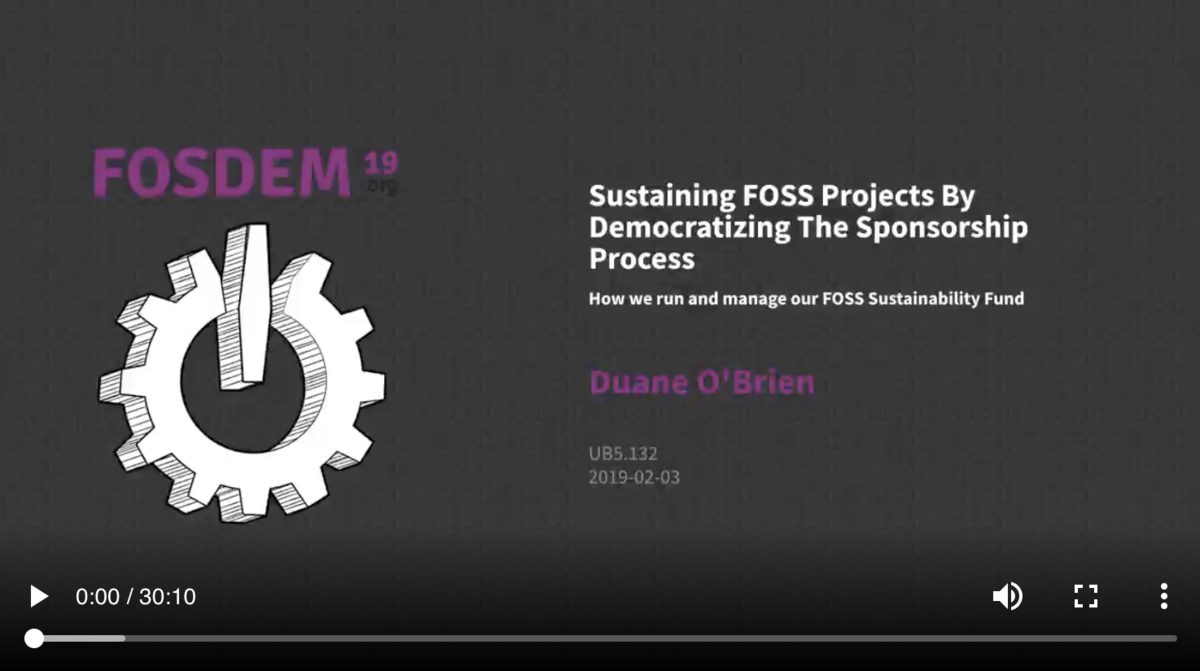 Sustaining FOSS projects by democratizing the sponsorship process