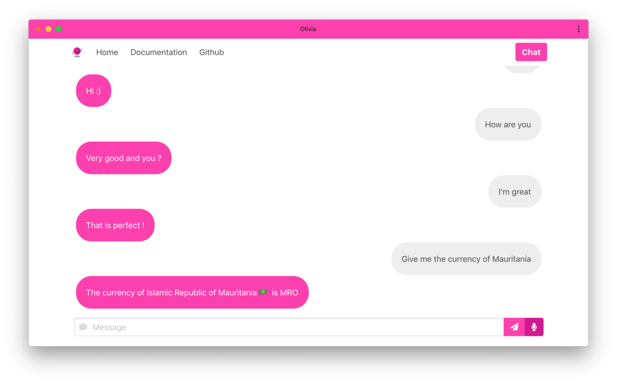 Meet Olivia – a contextual chatbot built with an artificial neural network