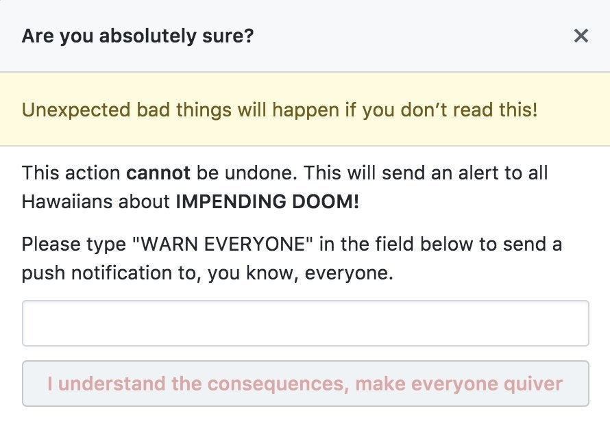 If GitHub built the Hawaii text alert service...