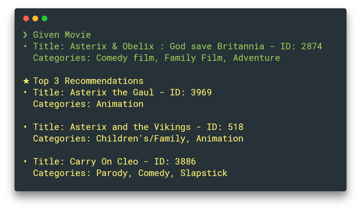 🎥 a machine learning movie recommender for your CLI