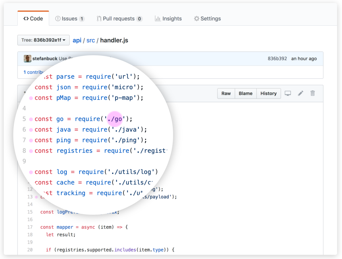 Navigate through GitHub repositories faster than ever