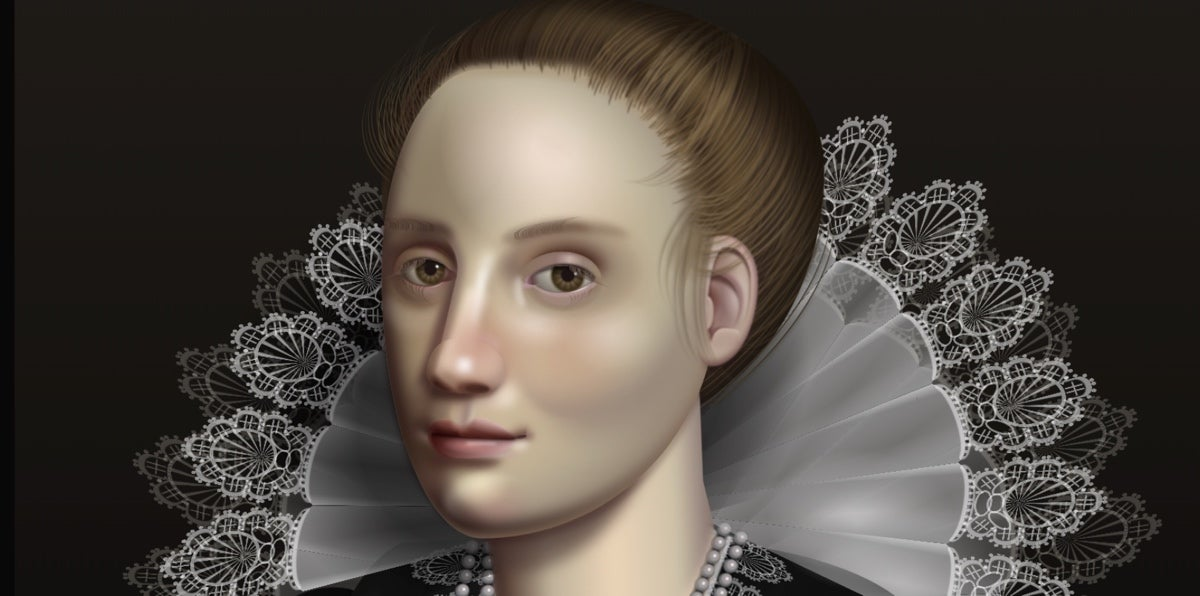 HTML/CSS drawing inspired by Flemish baroque oil portraits