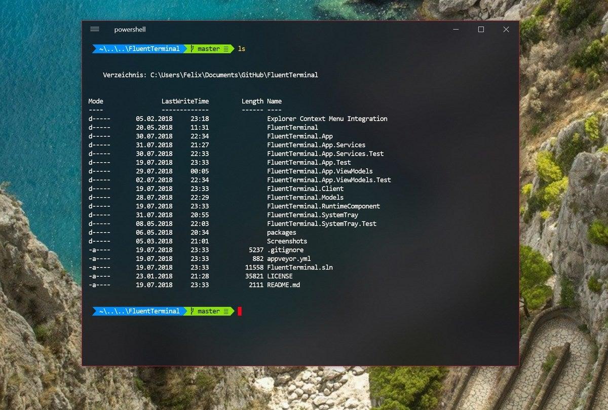 Fluent Terminal – a Windows terminal by way of web tech