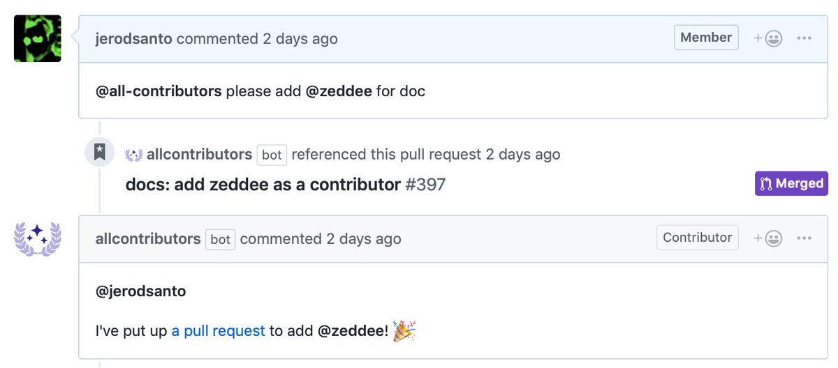 All Contributors Bot reporting for duty 🤖
