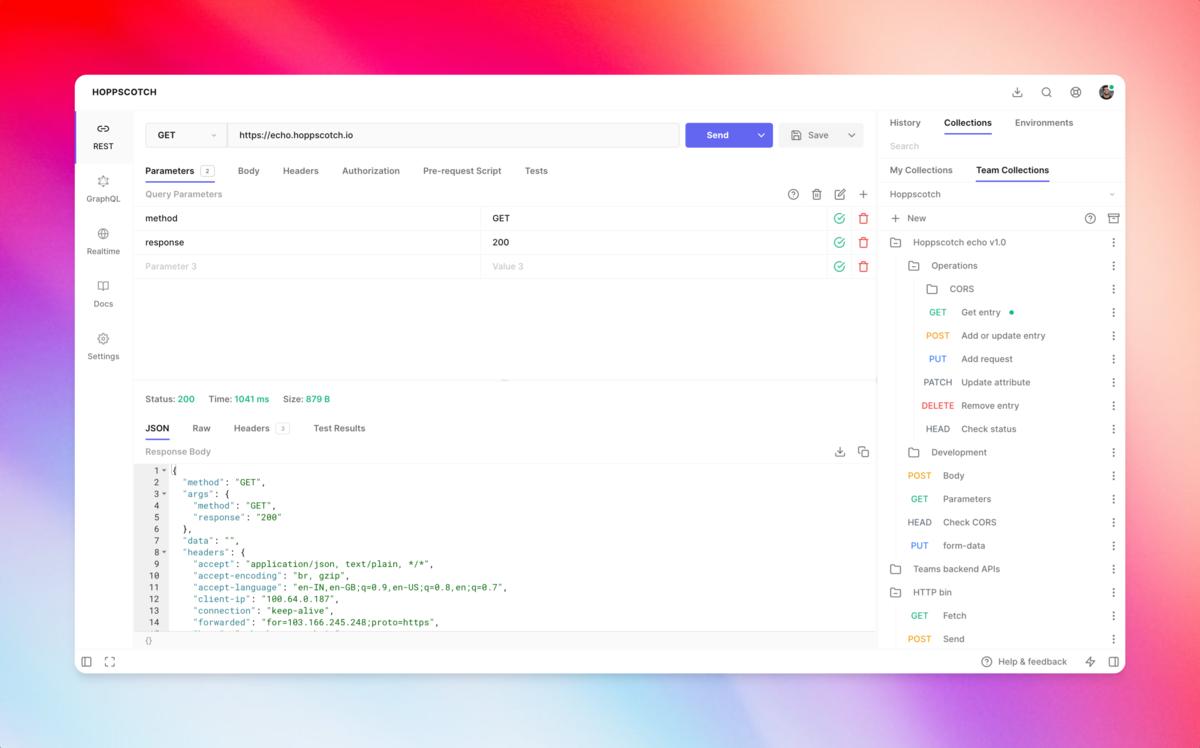 Hoppscotch is an open source Postman alternative
