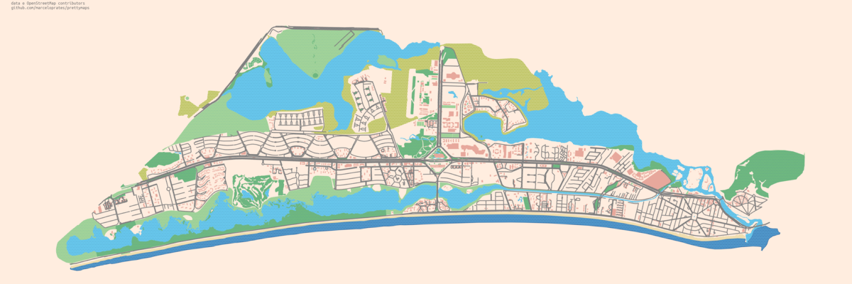 A small set of Python functions to draw pretty maps from OpenStreetMap