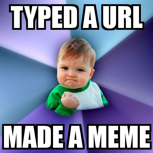 Make memes anywhere you can type a URL