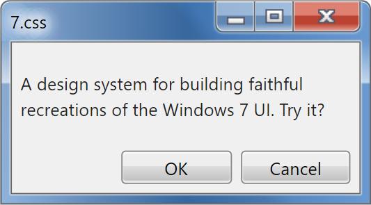 A tiny CSS framework for building faithful recreations of the windows 7 UI