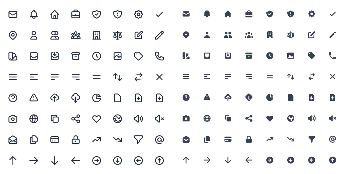 A set of free, high-quality SVG icons for your web projects
