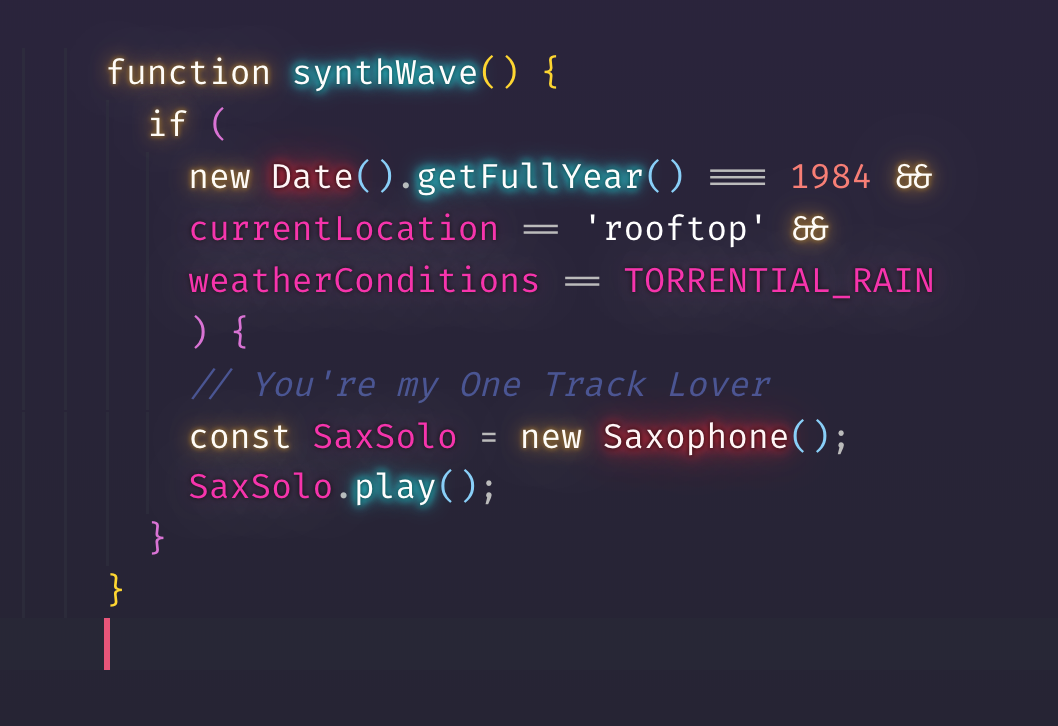 VS Code wants to party like it's 1984 🌅🕶