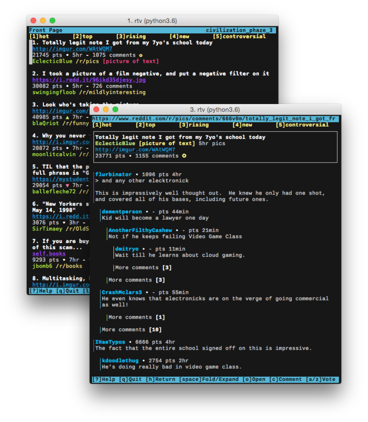 Browse Reddit from your terminal